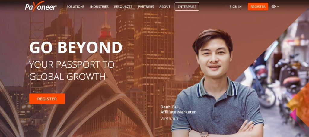 payoneer virtual bank account