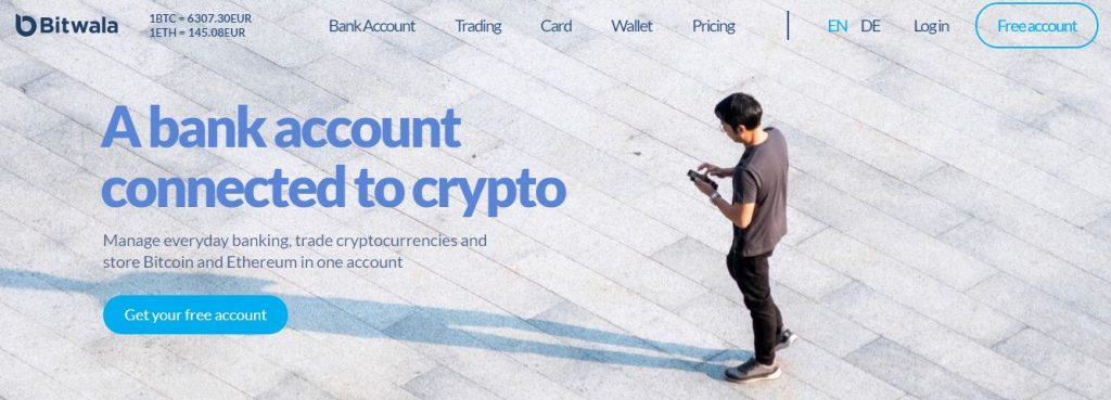 cruyptocurrency bank account