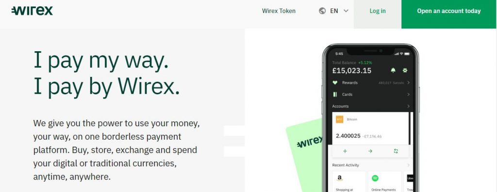wirex digital currency bank account