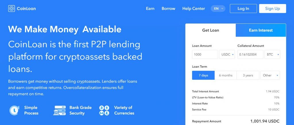 bitcoin loan without collateral