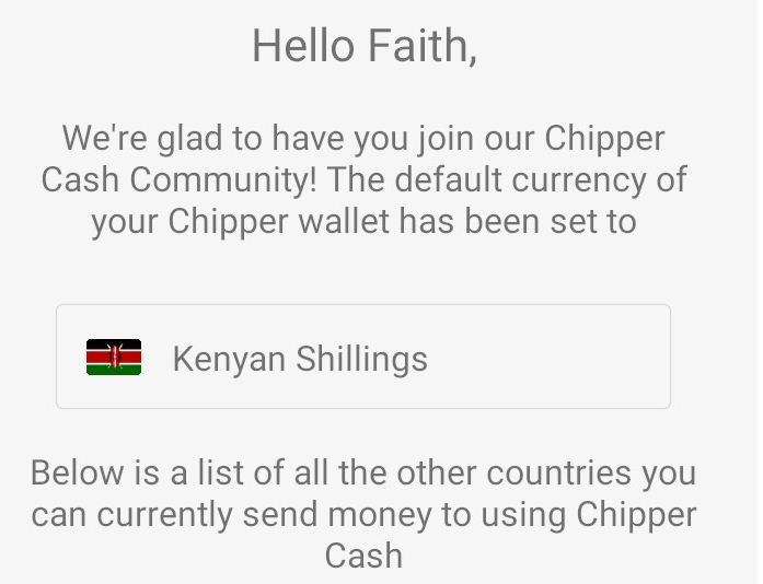 does chipper cash work in south africa