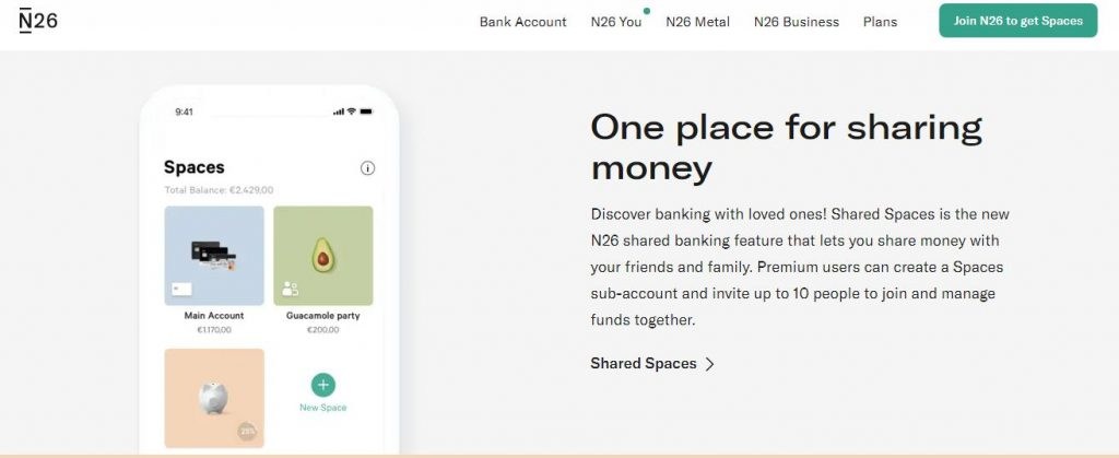 N26 joint bank account