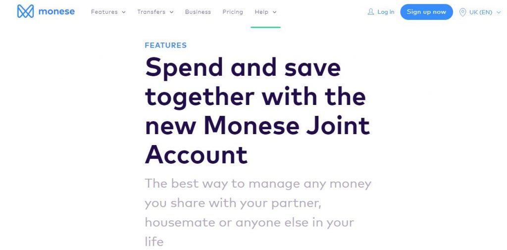 Monese joint bank account