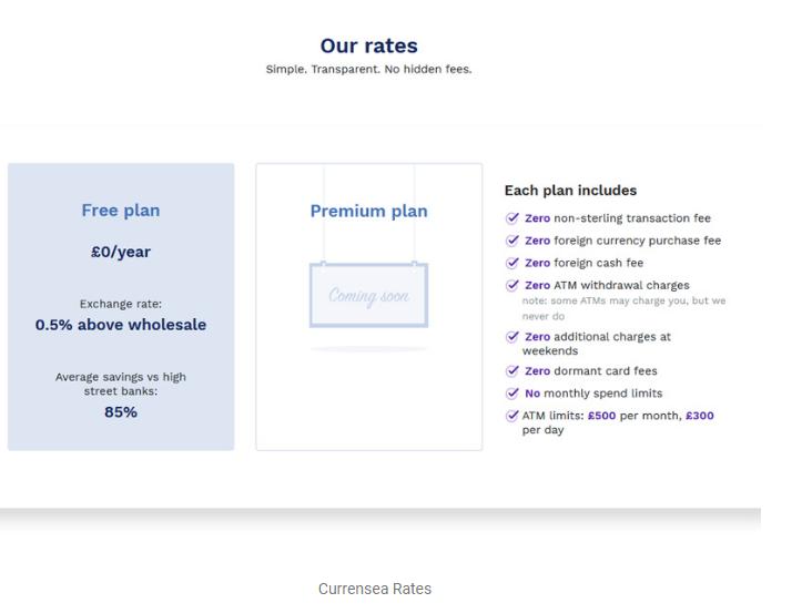 Currensea rates